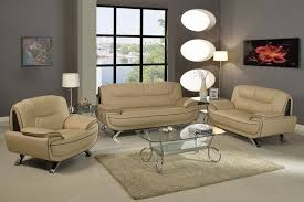 Beige Leather Living Room Set Beige Modern Sofa