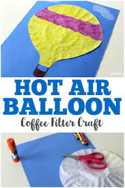 coffee filter crafts for kids coffee filter air balloon craft