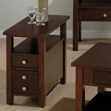 Side Tables For Bedroo by Narrow Accent Tableend Table With Drawer Tiger Maple U0026 Inside