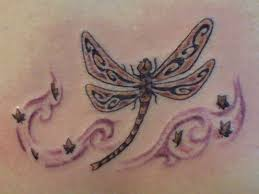 images of dragonflies tattoos tribal dragonfly design