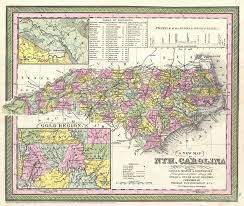 Map Of Western Nc File 1850 Mitchell Map Of North Carolina Showing Gold Regions
