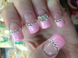 pink glitter princess nails nail art pinterest pink glitter