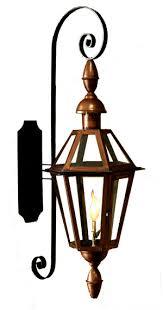outdoor gas lantern wall light six sided french quarter outdoor gas lantern on full scroll bracket