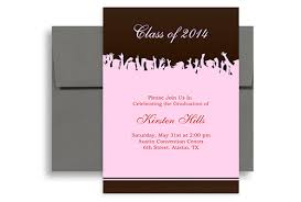 2017 pink brown senior graduation party invitation 5x7 in