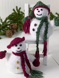 mr and mrs snowman snowman free crochet and free pattern