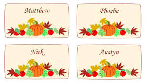 maple leaves and pumpkin thanksgiving place cards