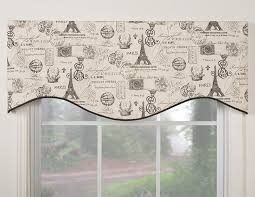 amazon com victor mill paris shaped valance home u0026 kitchen