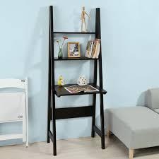 bureau echelle sobuy frg60 sch table bureau étagère style échelle de 2 tablettes