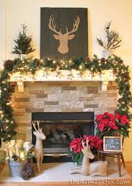 christmas mantel brown and rustic reindeer mantel the six fix