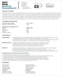Secretary Resume Templates Sample Medical Secretary Resume Resume Examples For Administration