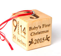 2 baby block ornament personalized baby block