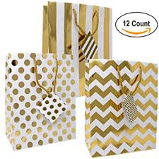 metallic gift bags 12 gift boutique medium metallic gold gift bags polka