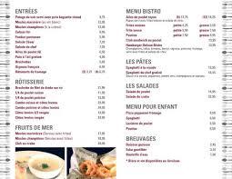 livraison cuisine menu livraison picture of restaurant bar les trois barils baie