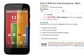 amazon black friday moto g motorola moto g listed sim free on uk retailer phonesreviews uk
