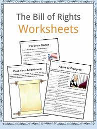 Bill Of Rights Worksheet Answers The United States Bill Of Rights Facts Worksheets For