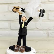 sports cake toppers weight lifting custom wedding cake topper decoration gift keepsake