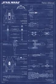 blue print size amazon com star wars movie poster set imperial fleet u0026 rebel
