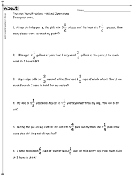 bunch ideas of mixed fraction word problems worksheets in layout