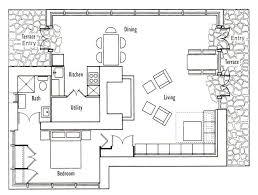 one floor open house plans floor plan cottage garage design plans ground less floor open