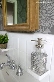 Soap Dish Shaped Like Bathtub Our Stenciled Bathroom Budget Makeover Reveal Driven By Decor