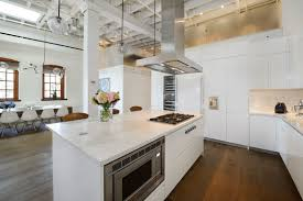 new york loft kitchen design warehouse penthouse loft blends modern new york with old time