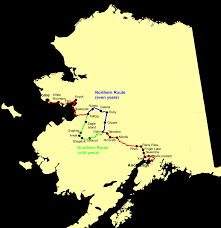 Alaska Map Images by File Alaska Iditarod Route Png Wikimedia Commons