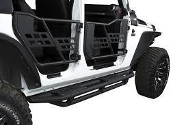 jeep jku side us armor textured black side step nerf bar for 07 17 jeep wrangler