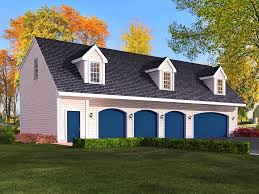 4 car garage cabin plans with living quarters google search garage plan with apartment i like this as a 4 car opening and space between house as media room i d prefer the dormers to be a bit closer together or