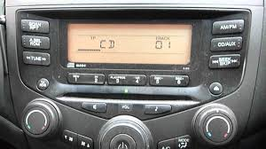 2005 honda accord stereo cd player youtube