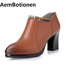 aembotionen new comfortable women genuine leather pumps breathable