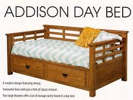 Addison Bedroom Furniture by Addison Day Bed Amish Oak Furniture U0026 Mattress Store