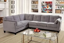 Gray Fabric Sectional Sofa Furniture Of America Cm6368gy Peever Ii Contemporary Warm Gray