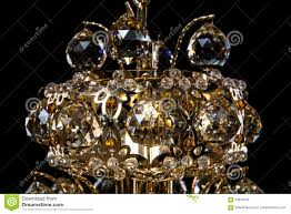 large chandelier close up isolated on background