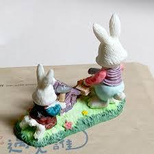 aliexpress com buy new mini resin rabbits family micro fairy