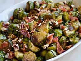 roasted brussels sprouts with bacon pecans and maple balsamic