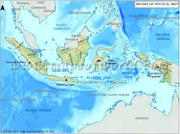 jamaica physical map physical map of indonesia indonesia physical map