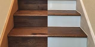 Stairs With Open Risers by Painting Your Hardwood Stair Risers