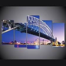 large hd sydney bridge at night home decor modular pictures wall