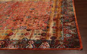 Sari Silk Rugs by Rugsville Ikat Rust Sari Silk 30002 8x10 Rug Rugsville Shopping