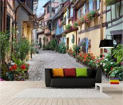 online buy wholesale 3d wall murals europe street from china 3d custom photo 3d wallpaper non woven mural 3d wall murals wallpaper for walls 3 d