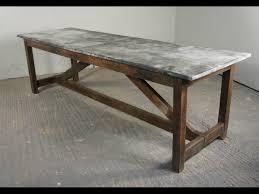 Zinc Kitchen Island - vintage industrial kitchen island dining table modern rustic zinc