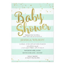 mint green baby shower invitations announcements zazzle