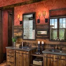 Rustic Bathroom Vanity Lights Rustic Double Vanity Looks Stylish - Stylish unique bathroom vanity lights property