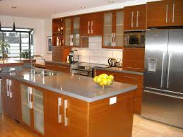 kitchen awesome white brown wood stainless luxury design modern