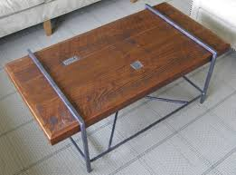 reclaimed wood and metal coffee table with design hd images 4579