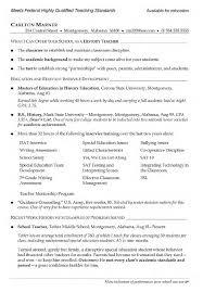 Job Resume For Teacher by Resume Resume For Teacher