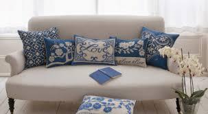 Home Decor Cushions 7 White Sofa Throw Blue And White Throw Cotton Linen Decorative