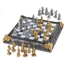 Medieval Dragon Home Decor Medieval Chess Set