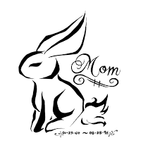 mom rabbit tattoo design real photo pictures images and sketches