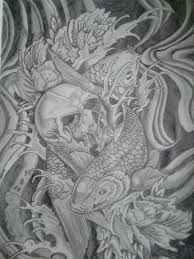 koi fish tattoo design by terrzwhitfield on deviantart
